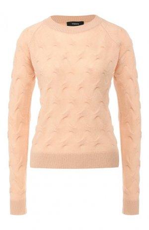 Кашемировый пуловер Theory. Цвет: оранжевый