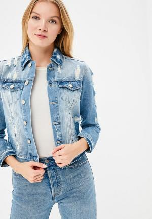 Куртка джинсовая Softy SO017EWAVXW9. Цвет: голубой