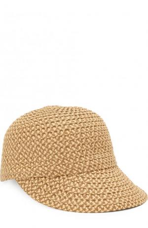 Плетеная кепка Eric Javits. Цвет: бежевый