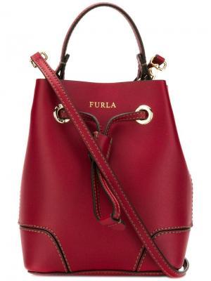 Мини-сумка-ведро Stacy Furla. Цвет: красный
