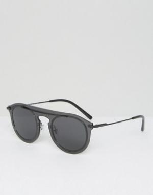 Круглые солнцезащитные очки с плоскими стеклами -Черный Dolce & Gabbana