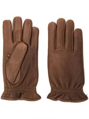 Эластичные перчатки Orciani. Цвет: коричневый