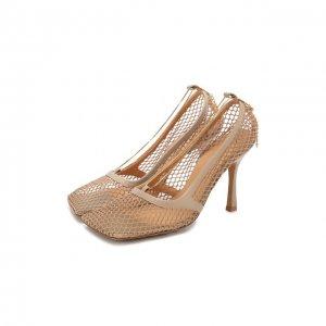 Текстильные туфли Stretch Bottega Veneta. Цвет: бежевый