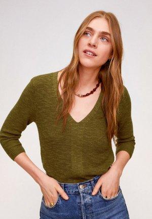 Пуловер Mango - SAETA. Цвет: хаки