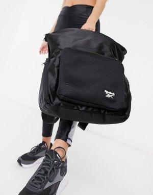Черный рюкзак в функциональном стиле Reebok