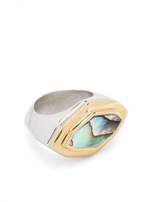 Кольцо из желтого золота Duffy Jewellery. Цвет: серебристый
