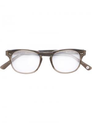 Очки в квадратной оправе Ahlem. Цвет: серый