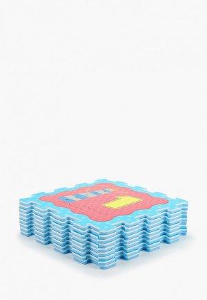 Коврик ЯиГрушка -пазл Океан и Цифры, 1*32*32 см (9 деталей). Цвет: разноцветный