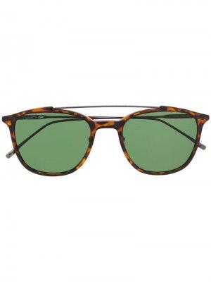 Солнцезащитные очки-авиаторы Lacoste. Цвет: коричневый