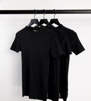Набор из 3 черных футболок для дома Tall-Черный цвет French Connection