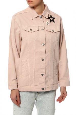 Куртка джинсовая MY TWIN TWINSET. Цвет: бордовый