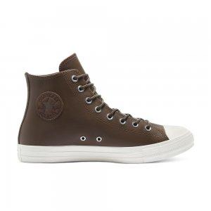 Chuck Taylor All Star Leather High Top Converse. Цвет: коричневый