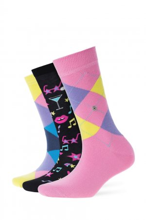 Набор хлопковых носков Burlington. Цвет: multicolor