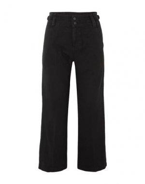 Повседневные брюки CURRENT/ELLIOTT. Цвет: черный