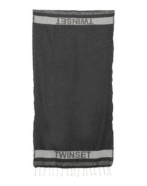 Пляжное полотенце TWINSET. Цвет: черный