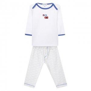 Хлопковая пижама Magnolia Baby. Цвет: синий