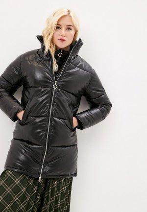 Куртка кожаная Goldrai. Цвет: черный