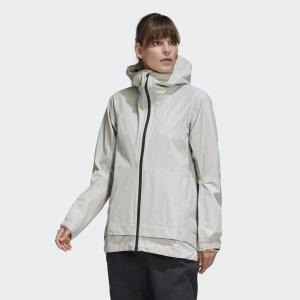 Куртка-дождевик Terrex Primeknit adidas. Цвет: серый