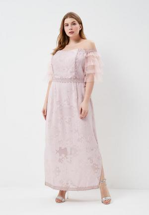 Платье LOST INK PLUS WARDROBE COLUMN MAXI DRESS. Цвет: розовый
