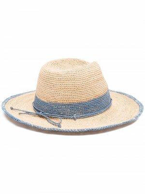 Шляпа с контрастной отделкой Helen Kaminski. Цвет: нейтральные цвета
