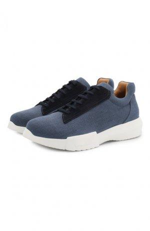 Текстильные кроссовки Giorgio Armani. Цвет: синий