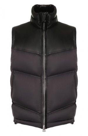 Пуховый жилет Tom Ford. Цвет: чёрный