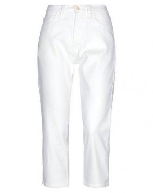 Джинсовые брюки-капри HAIKURE. Цвет: белый
