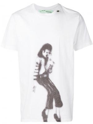 Футболка MJ Off-White. Цвет: белый