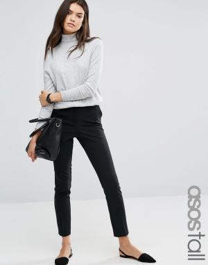 Укороченные брюки ASOS TALL. Цвет: черный