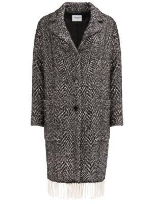 Пальто с бахромой Anna Rita. Цвет: разноцветный