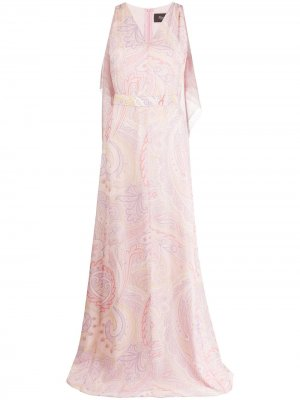 Длинное платье с принтом Max Mara. Цвет: розовый