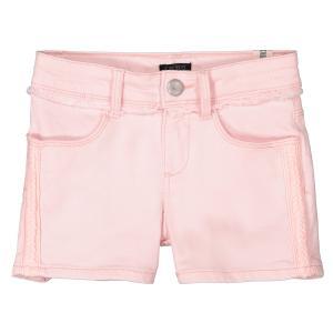 Шорты джинсовые 4-14 лет IKKS JUNIOR. Цвет: бледно-розовый