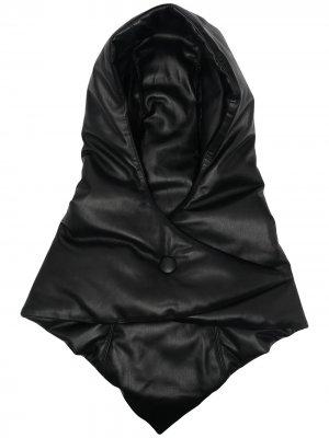 Балаклава со сборками Nanushka. Цвет: черный