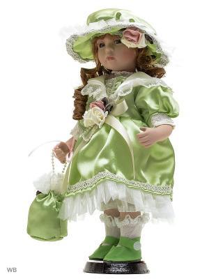 Кукла фарфор 12 Бриджит Angel Collection. Цвет: зеленый