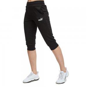 Штаны Essentials Capri Sweat Pants PUMA. Цвет: черный