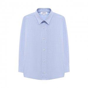 Хлопковая рубашка Aletta. Цвет: синий