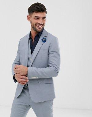 Однотонный пиджак узкого кроя Wedding-Голубой Gianni Feraud