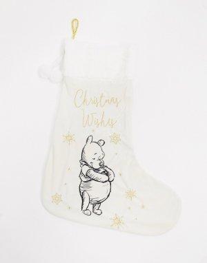 Новогодний носок с изображением Винни-Пуха -Белый Disney