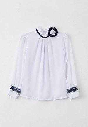 Блуза Соль&Перец с брошью. Цвет: белый