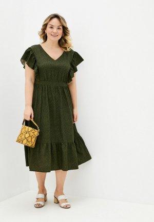 Платье Lacy. Цвет: хаки