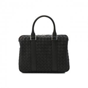 Кожаная сумка для ноутбука Bottega Veneta. Цвет: чёрный
