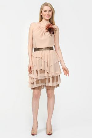 Платье Alba Conde. Цвет: бежевый