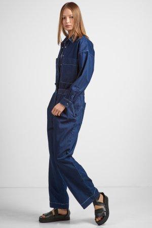 Комбинезон джинсовый VASSA&Co. Цвет: голубой