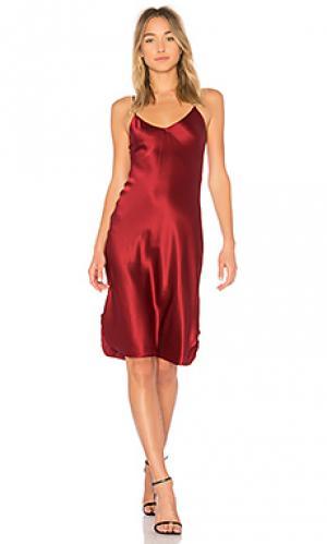 Платье майка на бретелях short NILI LOTAN. Цвет: красный