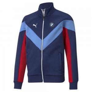 Детская олимпийка BMW M Motorsport MCS Youth Track Jacket PUMA. Цвет: синий