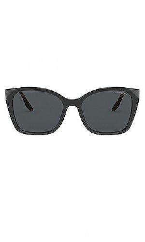 Солнцезащитные очки cinema evolution square cat eye Prada. Цвет: черный