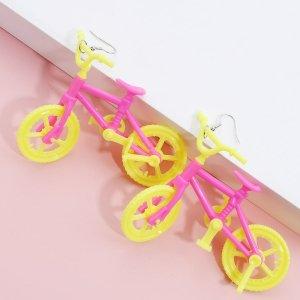 Серьги-подвески в велосипедной форме SHEIN. Цвет: многоцветный