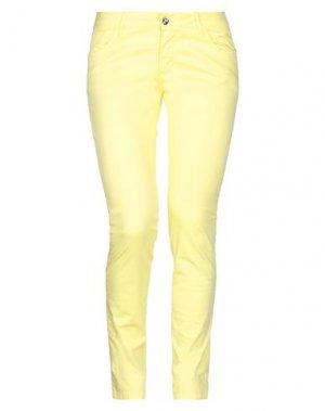 Повседневные брюки BLUEFEEL by FRACOMINA. Цвет: желтый