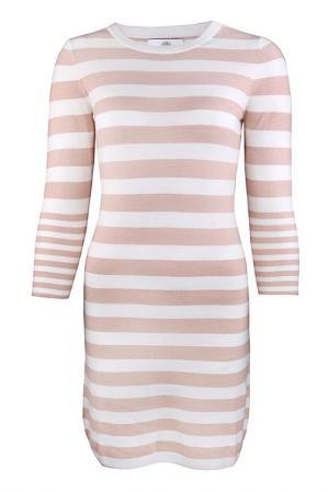 Платье Allude. Цвет: бежевый