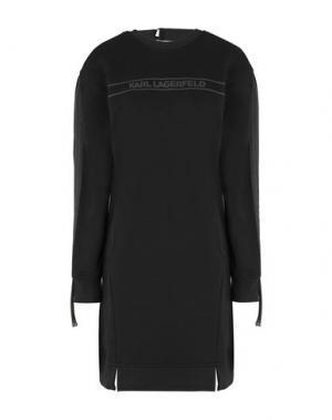 Короткое платье KARL LAGERFELD. Цвет: черный